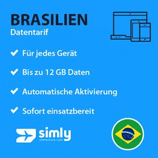 Brasilien Daten SIM-Karte