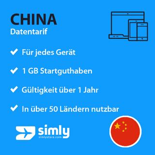 China Daten SIM-Karte