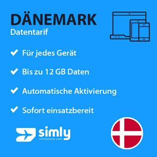 Dänemark Daten SIM-Karte