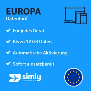 Europa Daten SIM-Karte