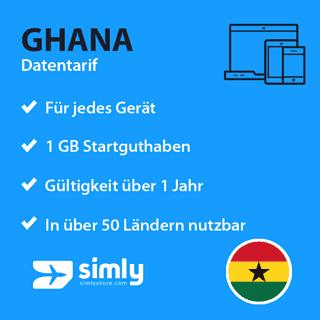 Ghana Daten SIM-Karte