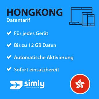 Hongkong Daten SIM-Karte