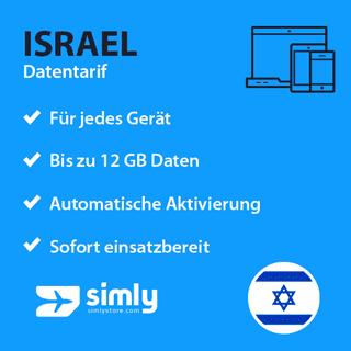 Israel Daten SIM-Karte