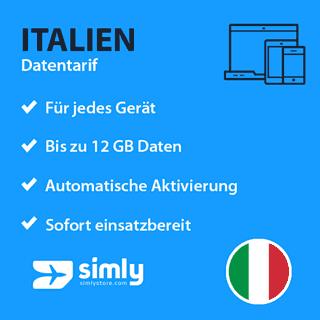 Italien Daten SIM-Karte