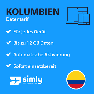 Kolumbien Daten SIM-Karte