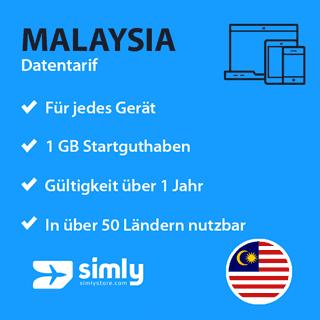 Malaysia Daten SIM-Karte