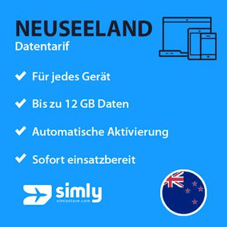 Neuseeland Daten SIM-Karte
