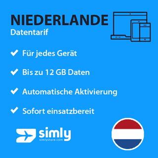 Niederlande Daten SIM-Karte