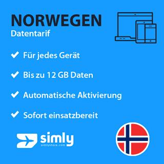 Norwegen Daten SIM-Karte