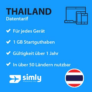 Thailand Daten SIM-Karte